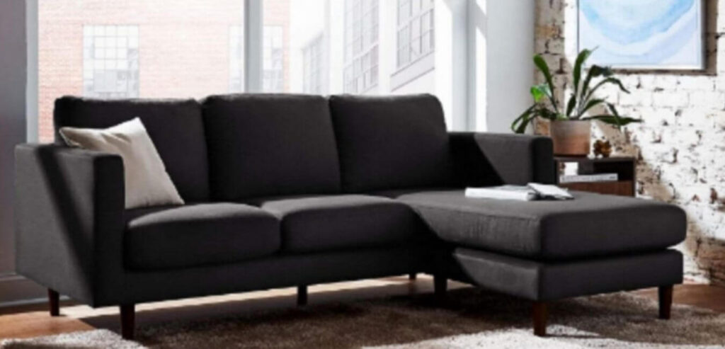 Reversible Sectional Upholstered Sofa