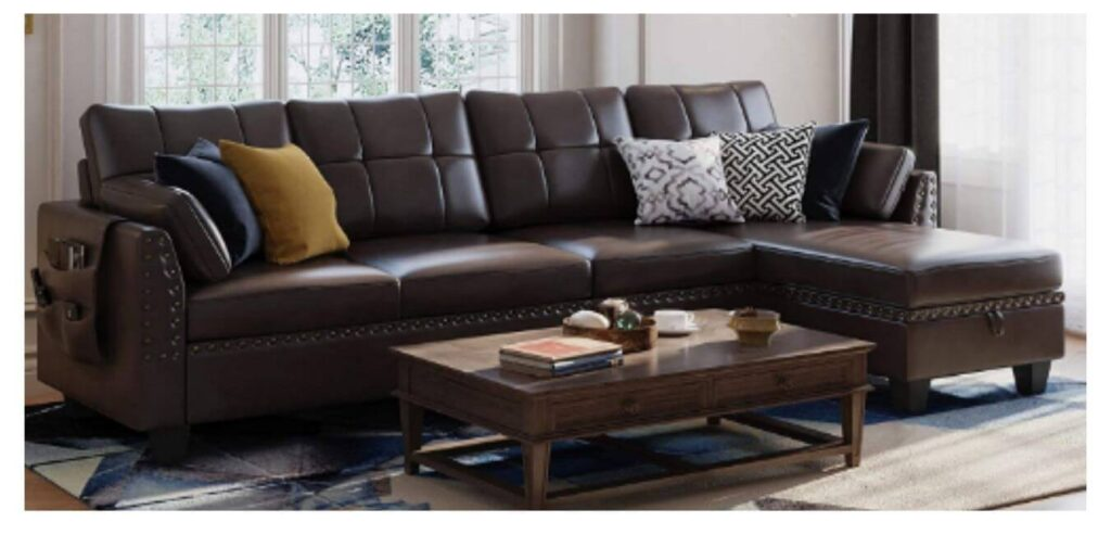 Cheap Sectional Sofa Couch 4-seat Reversible