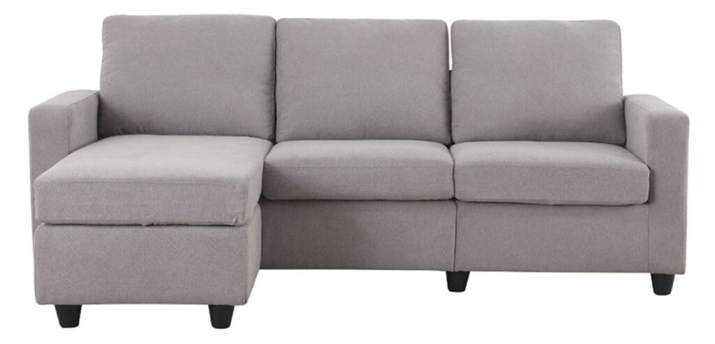 Sectional Sofa Couch HONBAY Convertible
